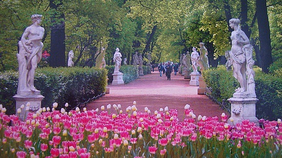 Summer Garden st petersburg day of the city