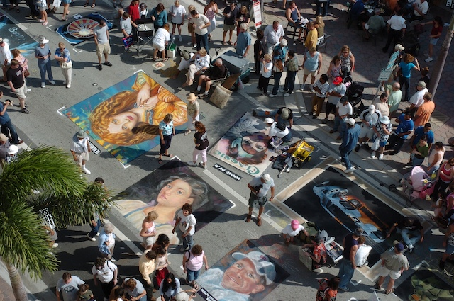 Festival Of Street Painting The Colours Of St Petersburg