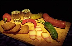 Vodka traditional Russian alcoholic beverage