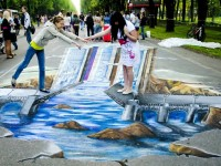 """The Colours Of St.Petersburg"" – The First International Festival Of Street Painting"